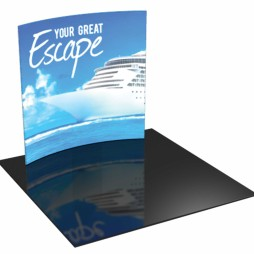 Trade show-displays-8ft-Advanced aluminum- Full color fabric graphic-pull-over zipper pillowcase fabric graphics