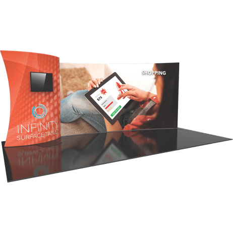 Fabric Trade Show apple displays trade show exhibits fabric graphics portable banner stands accessories tool free