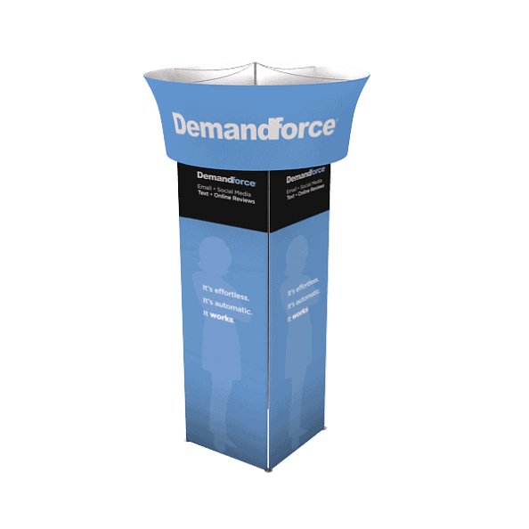 Trade show display tower Trade show display tower apple displays trade show exhibits fabric graphics portable banner stands accessories tool free