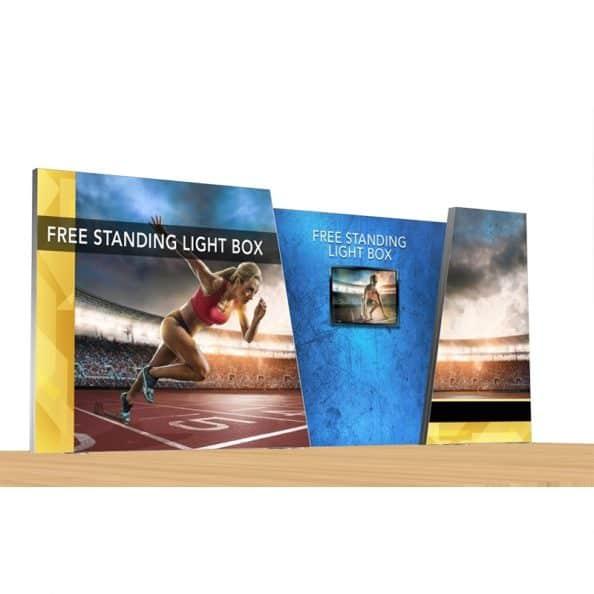 Lightbox Display ignite fabric hybrid light box trade show exhibit display