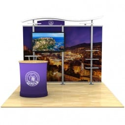 apple displays trade show exhibits fabric graphics portable banner stands accessories tool free