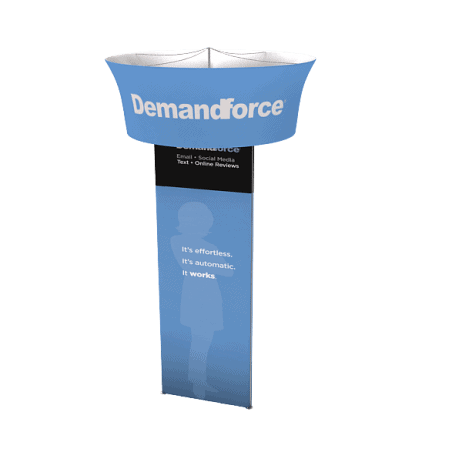 triangular tower apple displays trade show exhibits fabric graphics portable banner stands accessories tool free