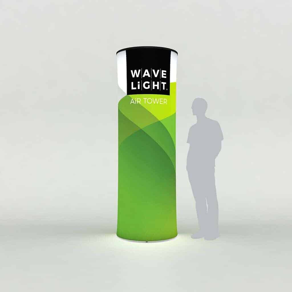 WAVELIGHT AIR BACKLIT INFLATABLE CIRCULAR TOWER