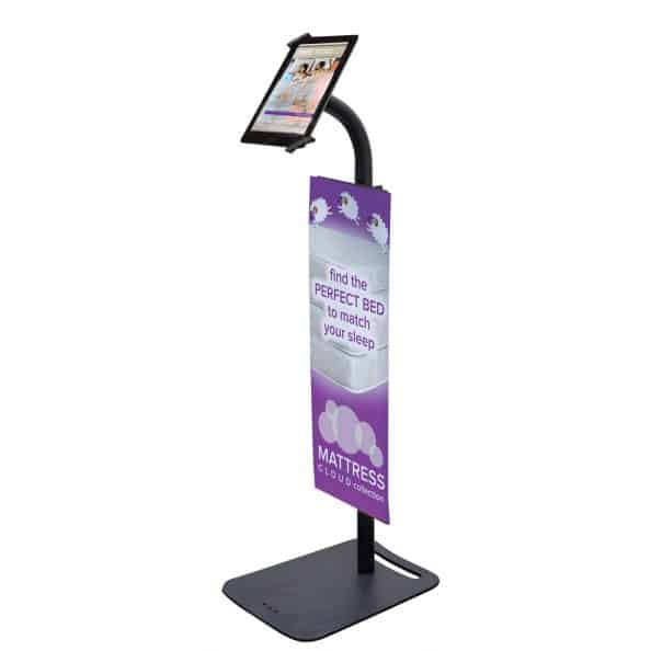 ipad graphic stand display trade show