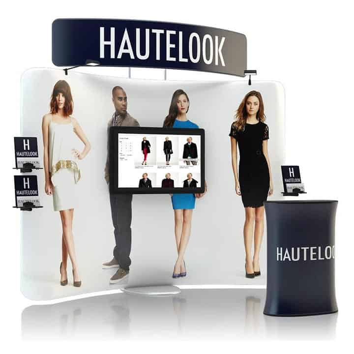 Trade Display Stands : Hero stand alone monitor display for trade shows and exhibits