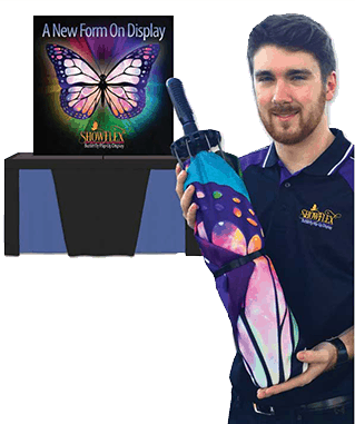 trade show displays fabric graphics portable exhibits banner stands pop up display