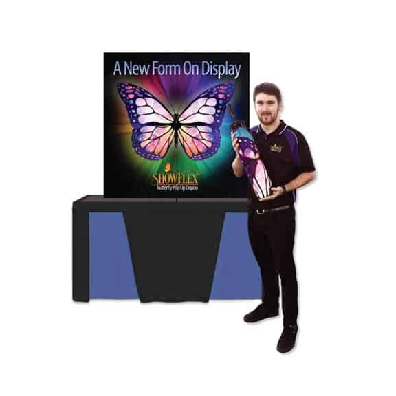 trade show displays fabric graphics portable exhibits banner stands table top tabletop pop up